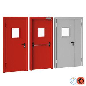 protection doors 3D model