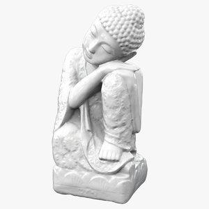 3D buddha statue