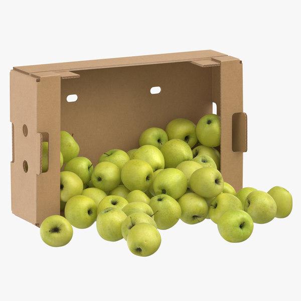 cardboard box 02 golden model