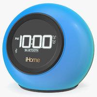 clock radio ihome ibt29bc 3D