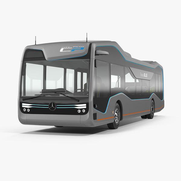 3D model mercedes future bus city