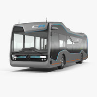 3D model mercedes future bus city