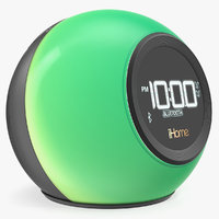 Wireless Bluetooth Phaze Clock Radio iHome iBT29 Green 3D Model