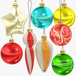 3D christmas tree decorations v4
