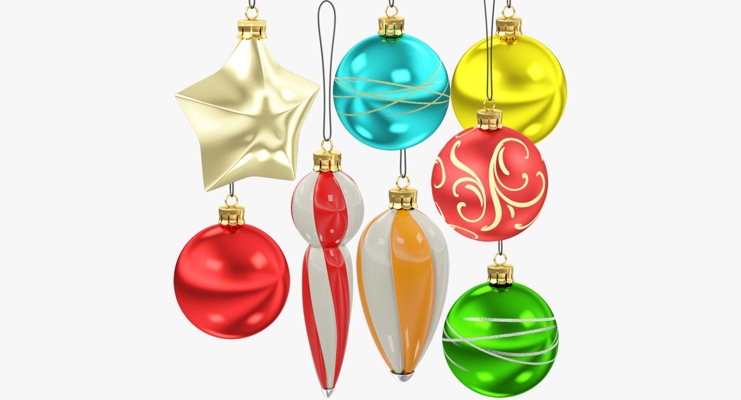 3D christmas tree decorations v4