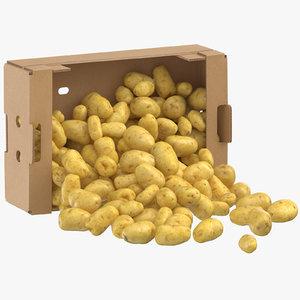 cardboard box 02 clean model