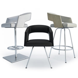 3D jolly chairs stools armchair model