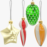 3D christmas tree decorations v6