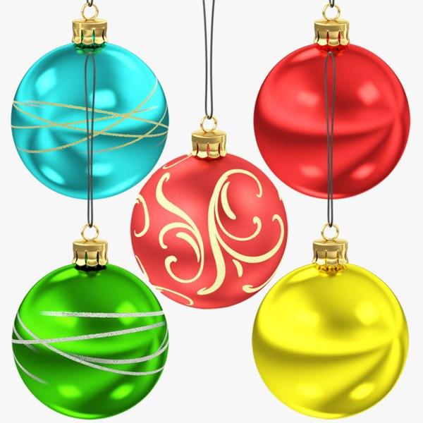 3D christmas balls v5