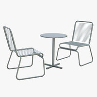 Retro Bistro Style Patio Set
