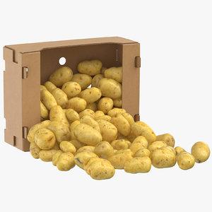cardboard box 03 clean 3D model