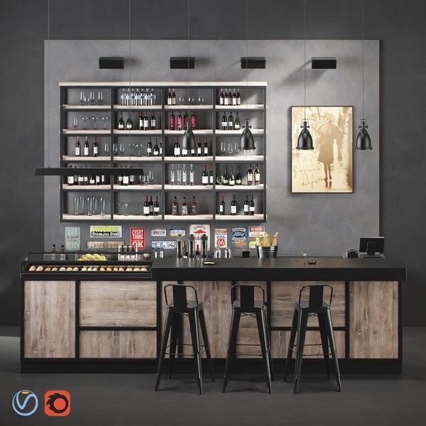 madison bar 3D model