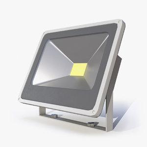 3D pbr floodlight lights model