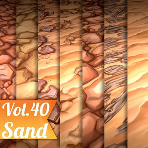 Texture Set Vol.40 Hand Painted Sand (Stylized Texture Sand )