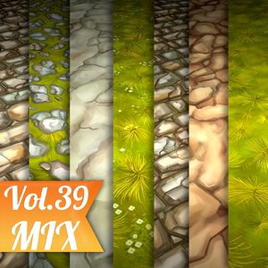 Texture Set Vol.39 Hand Painted Ground (Stylized Texture Ground)