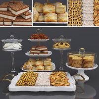 3D model food tray dessert