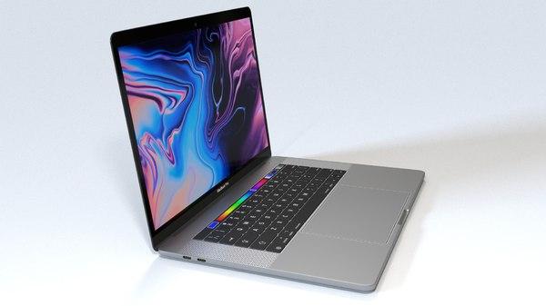3D macbook pro 15 inch model