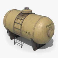 Oil Tank Containers Low Poly