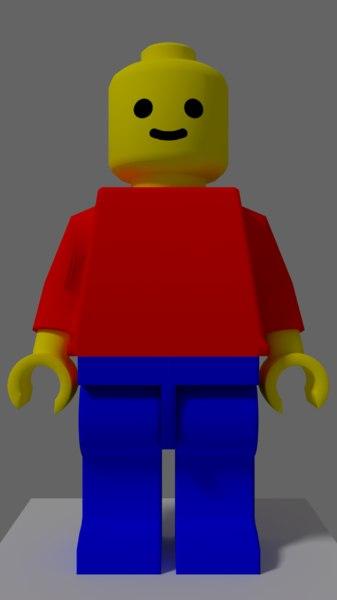 3D legoman rig materials