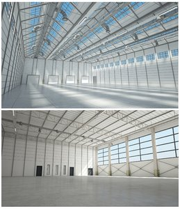 warehouse interior 1 build 3D