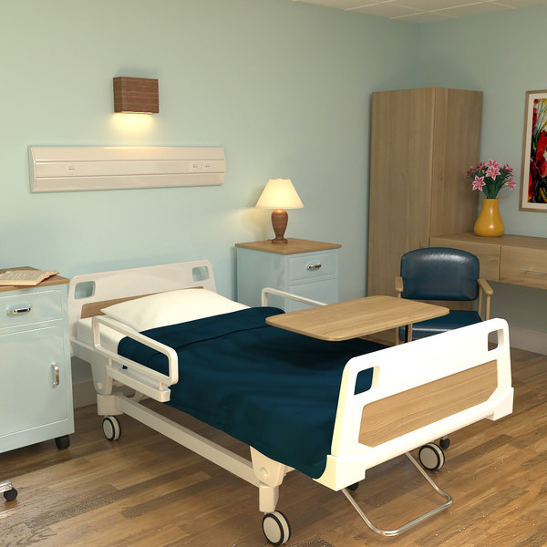 3D modeled hospital room