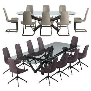 3D flamingo chair marathon table model