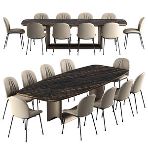 3D tina chair dragon table