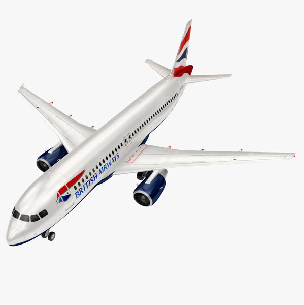 airbus british airways a320 3D model