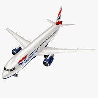 airbus british airways a320 3D model