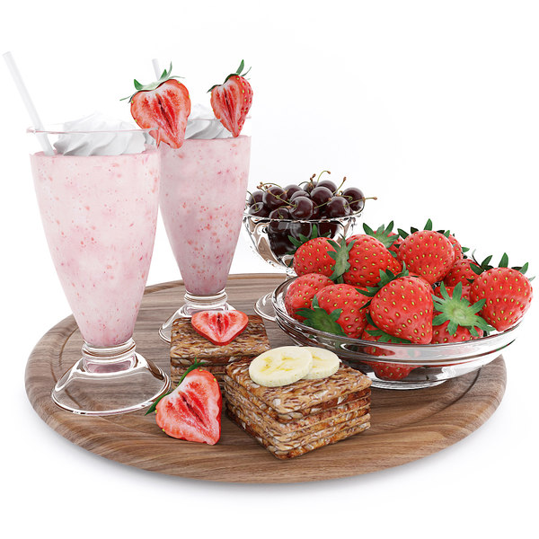 3D strawberry berry summer