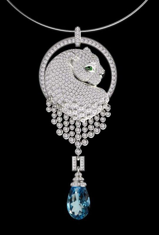 3D pendant jewelry model