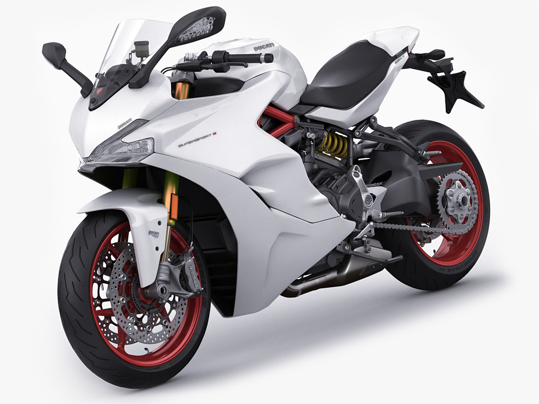 supersport s motorcycle 3D