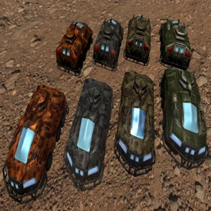 armored assault vehicle 3D model