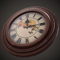 soviet wall clock 3D model