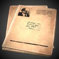 3D soviet notebook old pbr model