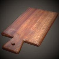 3D model old cutting board pbr