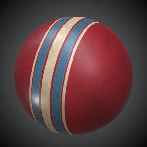 3D rubber ball pbr model