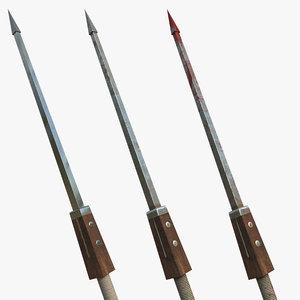 3D spear blood model