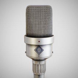 3D neumann m49 microphone model