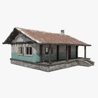 3D house pubg chimney