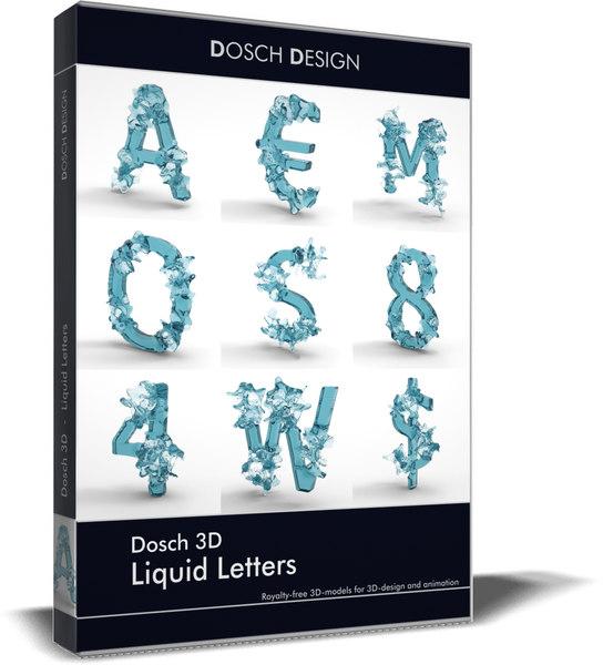 3D liquid letters model