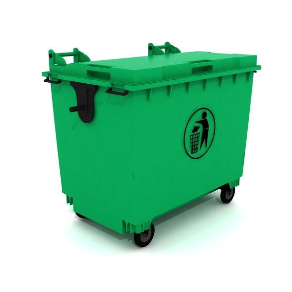 3D model bin dumpster