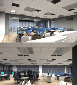 3d-scenes - office 01 3D model