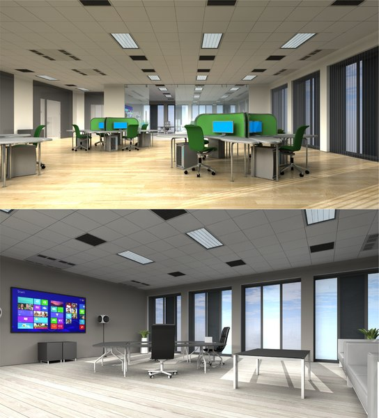 3D 3d-scenes - office 02 model