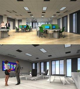 3d-scenes - office 02 3D model