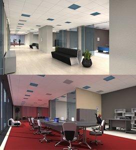 3D 3d-scenes - office 04 model