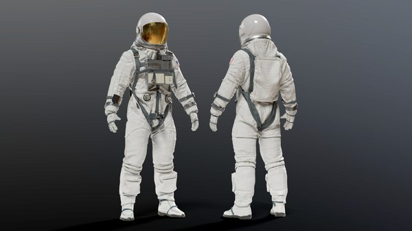 3D nasa gemini astronaut space