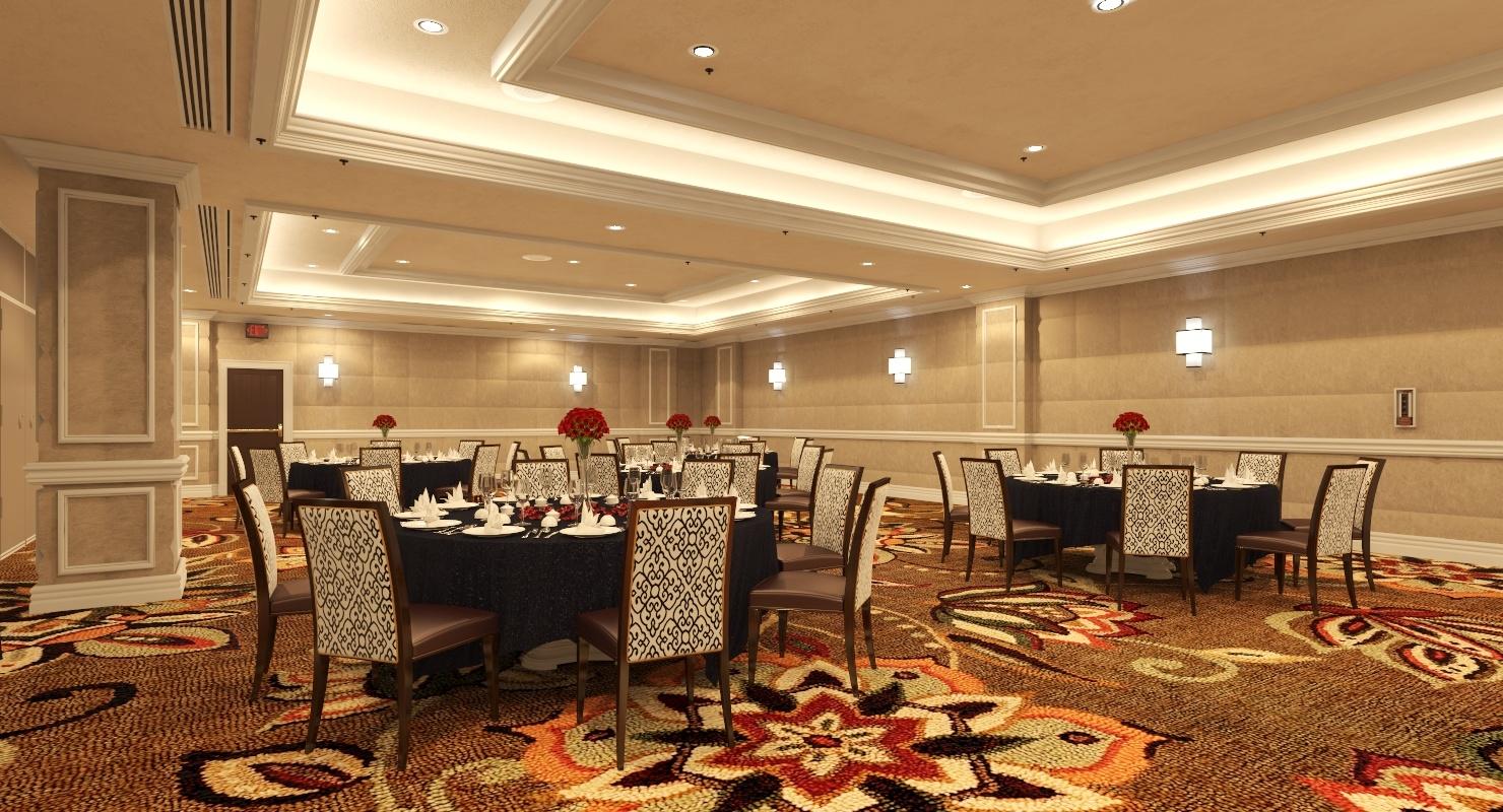 Vorbildliche Szene Des Esszimmer Innenraum 3d Im Las Vegas Excalibur Hotel 3d