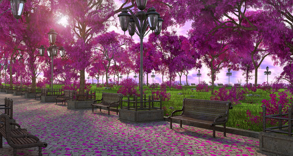 park lilac 3D model