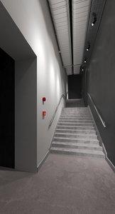 3D art stair hall